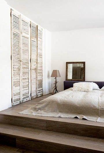 Old shutters on closet bedrooms pinterest for Bedroom wardrobe shutter designs