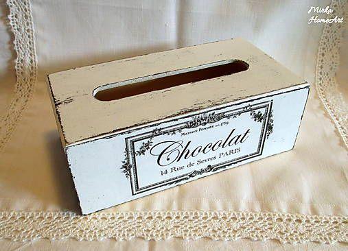 HomeArt / Shabby servítkovník Chocolat