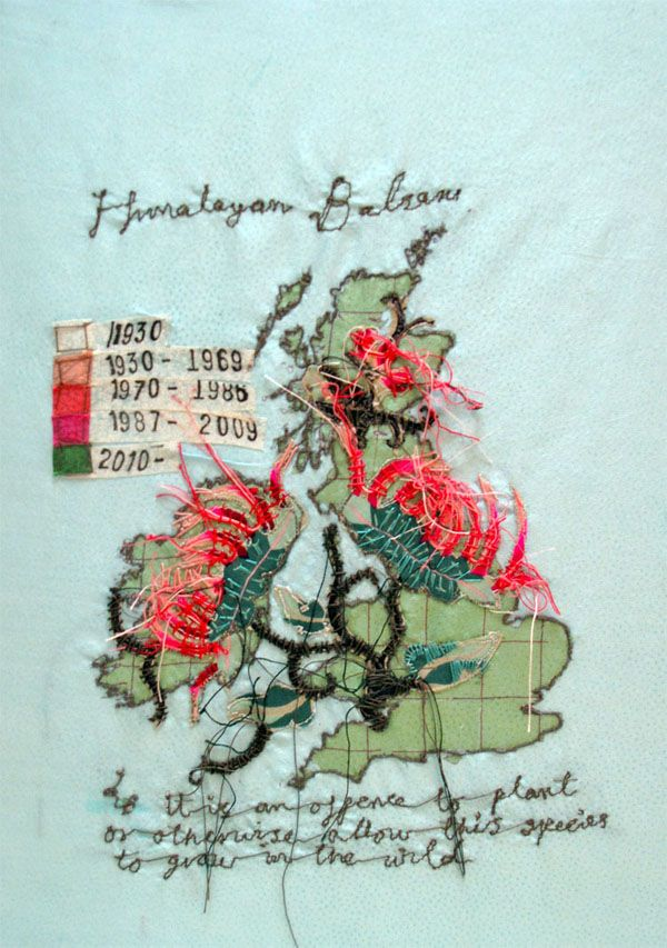 Penny Leaver Green map via the red thread