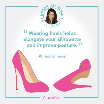 Heels not only make you feel more confident, but they can actually how you carry yourself! #FRESHisFIERCE