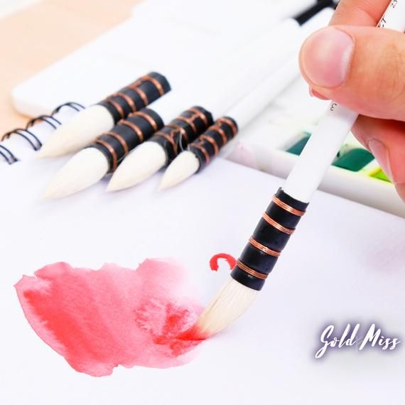 Wool Hair Wool Paint Brush Watercolor Paintbrush Pointed Brush