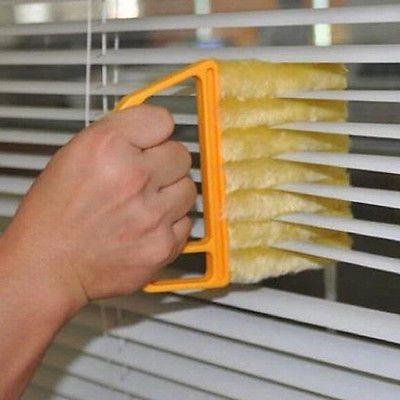 Microvezel Jaloezie Blade Cleaner Venster Conditioner Stofdoek Schoon Borstel 1