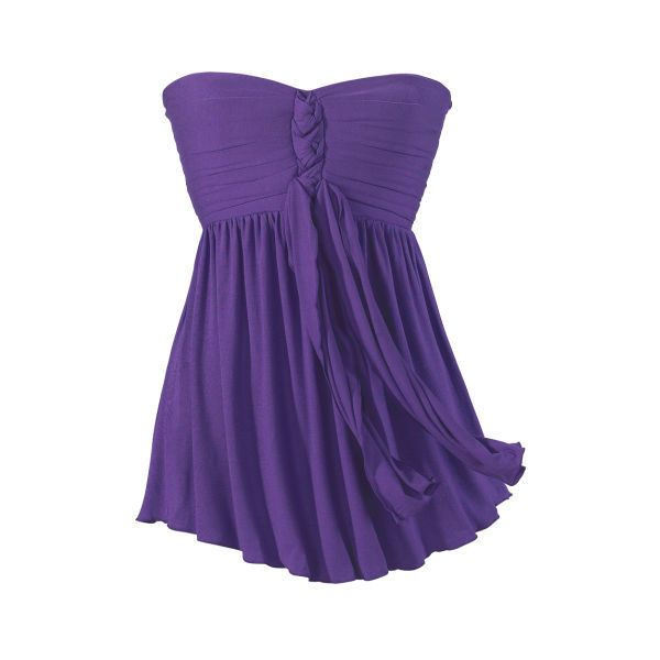Purple Bandeau Women's Top Size Large ($60) ❤ liked on Polyvore featuring tops, ruched bandeau top, shirred top, ruched tube top, long tops and ruched top