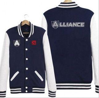 DOTA 2 equipe aliança camisola para homens XXXL jaquetas de baseball casaco de primavera