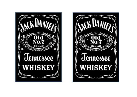 Edible Printed Sheet  Popular Whiskey Labels