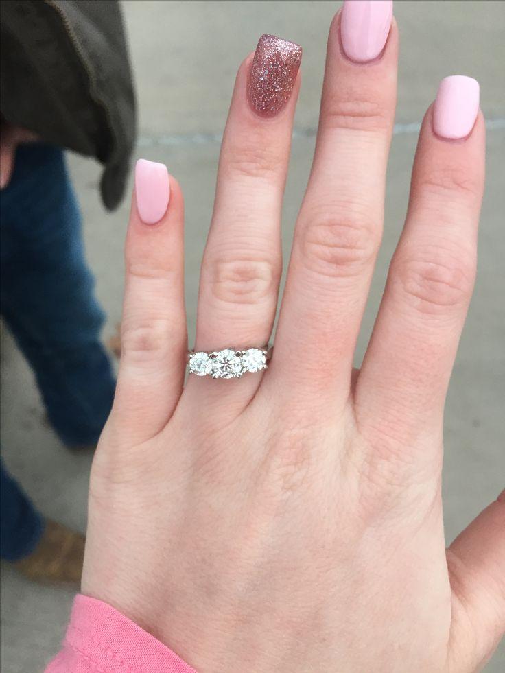 2 1/2 karat Past, Present, Future Engagement Ring