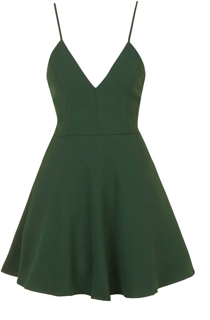 Womens dark emerald v-neck prom dress by glamorous petites from Topshop - £36 at ClothingByColour.com