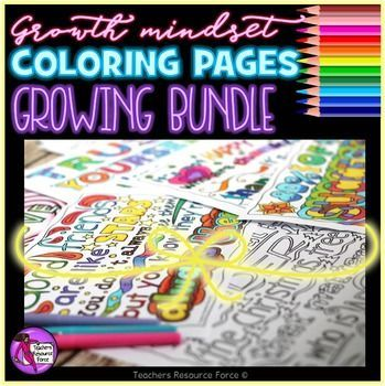 Explore more of growth mindset mentality with ALL of my motivational, inspirational and relaxing zen doodle coloring pages in this GROWING bundle!In this bundle you will get ALL the growth mindset coloring packs at 20% off, as well as any future sets for FREE!