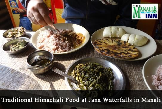 Must Have: Enjoy Traditional Himachali Food at Jana waterfalls in #Manali