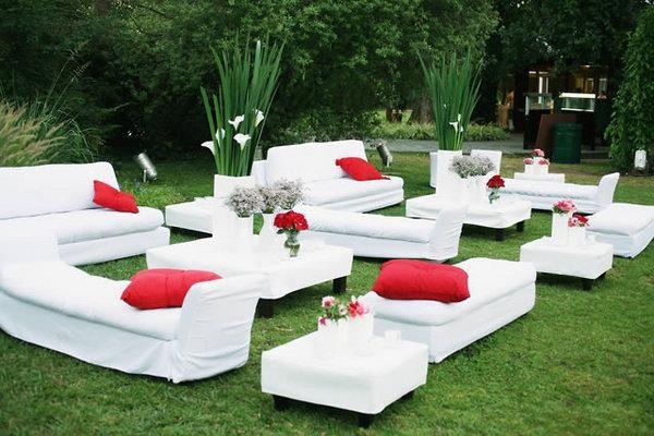 para eventos sociales y corporativos, hermosa decoración en un ambiente abierto