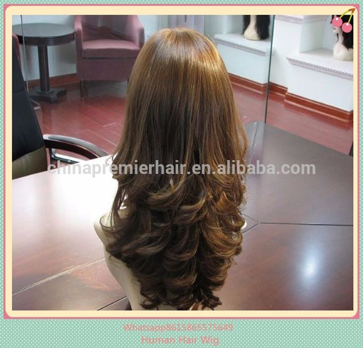 100% Human Hair Handtied Mono Top/Monofilament Wig for Women
