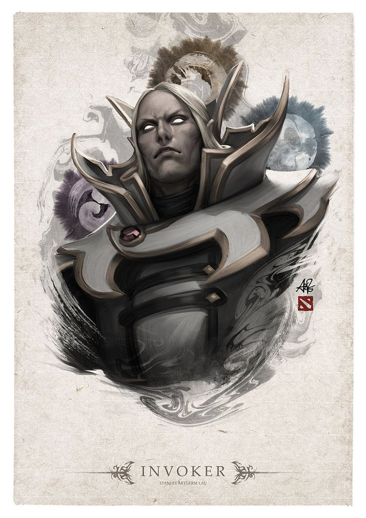 This belongs to a series of DOTA2 Hero Portraits that I am creating weekly, exclusively for the Steam Workshop. Available as Poster & Shirt. Please support my art by casting your vote! DOTA Wor...