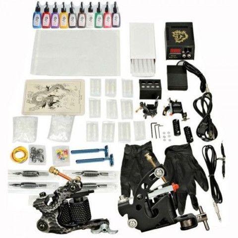 Full Tattoo Starter Kit! 2 Guns Tattoo Machine Kit Needles Grips Tips – quadcopters plus