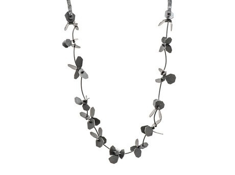 Posy Necklace by Yuko Fujita Oxidised sterling silver Available online and in store http://egetal.com.au/store/product/YUK626