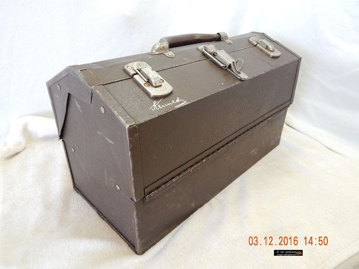VINTAGE KENNEDY TOOL CHEST #1017! QUITE USED! SOME DENTING VISIBLE! AS IS!