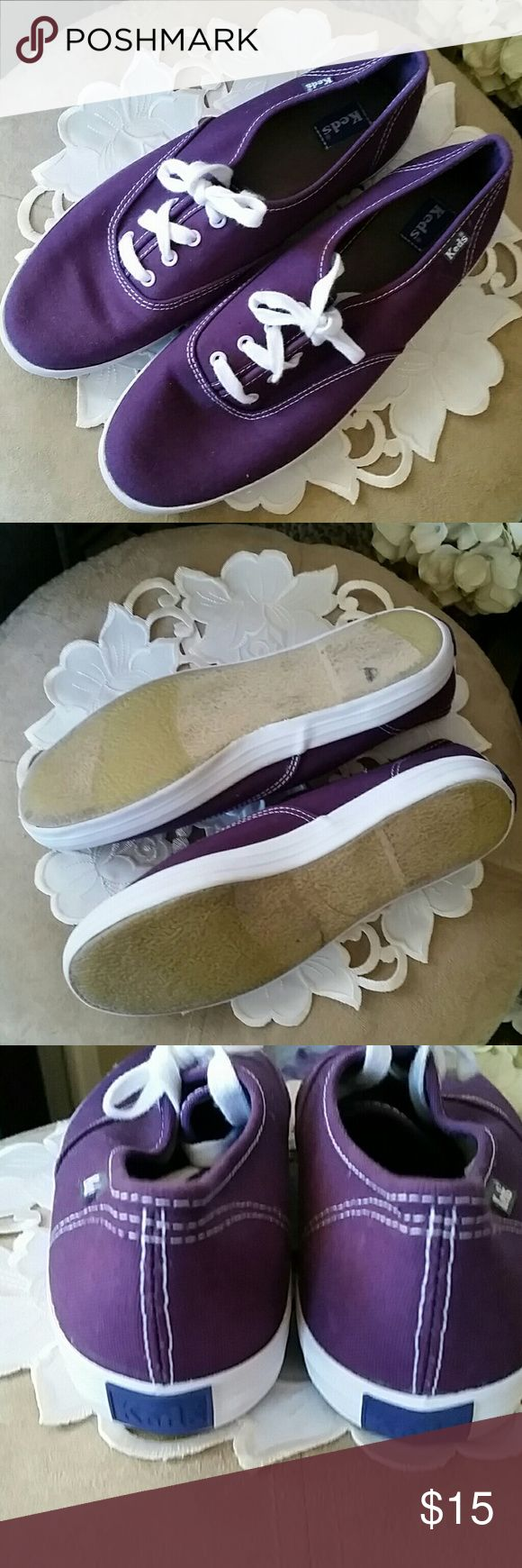 KEDS Sneakers 7.5 - like new Purple canvas KEDS Sneakers - like new. I am re-poshing these, never wore them. Size 7.5 Keds Shoes Sneakers