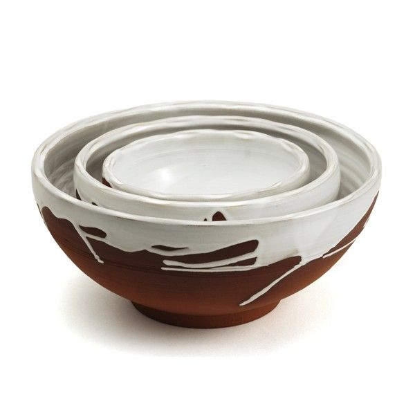 The Outlawmom.com: CRAVE IT. COVET. LOVE IT. This week I'm coveting beautifully plain earthenware to place at our holiday table, like Stephen Pearce's terracotta and white pottery pieces.