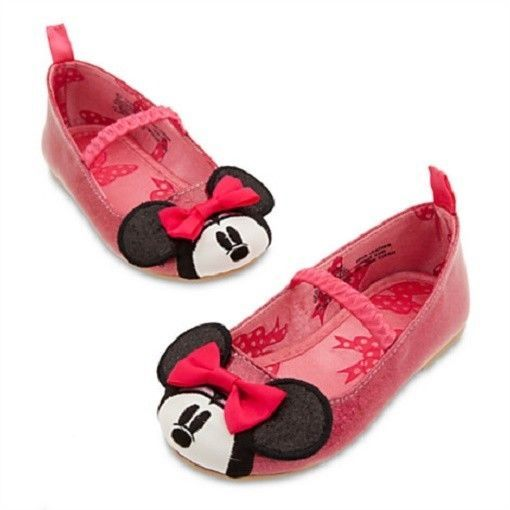 MiNNiE MoUsE~INFANT or TODDLER~BaBy~PiNk~Sparkle~SHOES~Costume~NWT~Disney Store