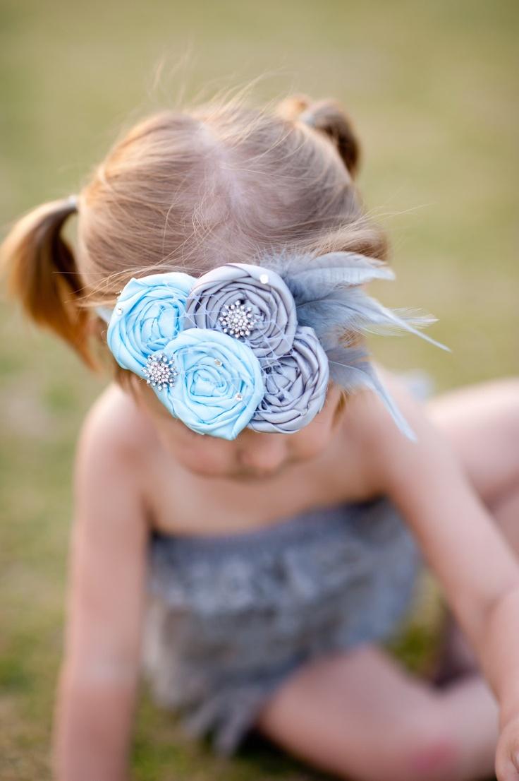 Beautiful Cinderella Inspired Rosette Headband. $18.00, via Etsy.