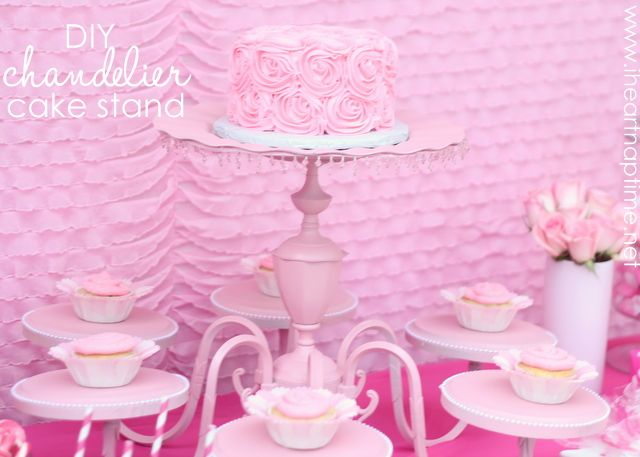 DIY Fancy Cake Stand (from an old chandelier)