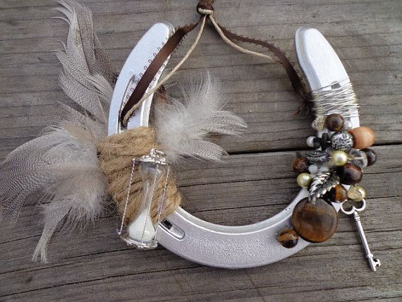 Feathers Amp Time Decorative Horseshoe Western Home