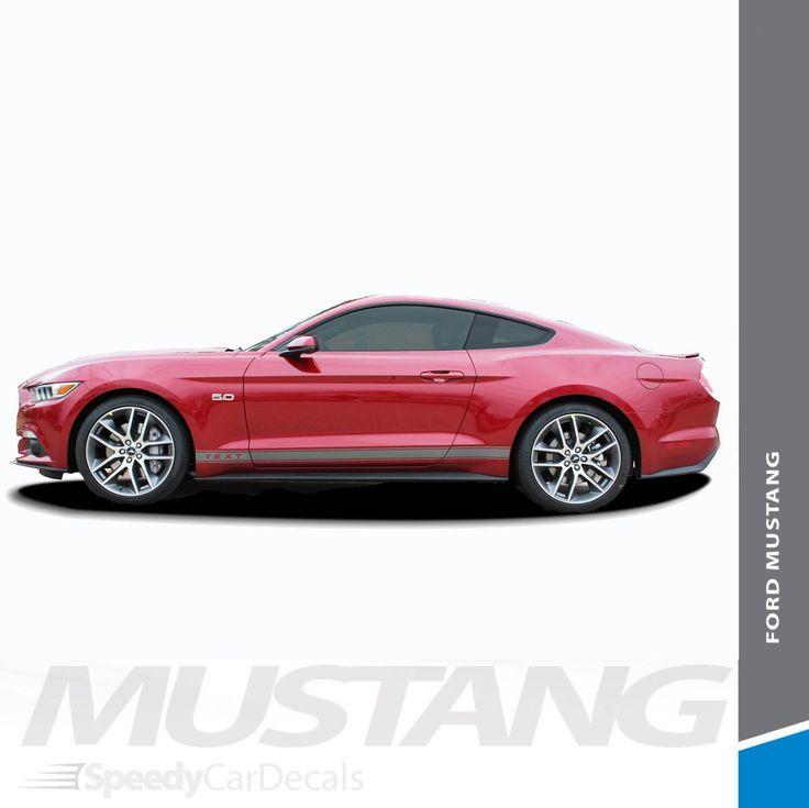 Ford Mustang Side Vinyl Graphics 3M STALLION ROCKER 1 2016