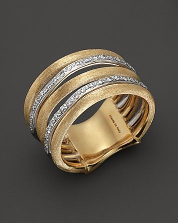 Marco Bicego Diamond Jaipur Link 5-Strand Band Ring | Bloomingdale's
