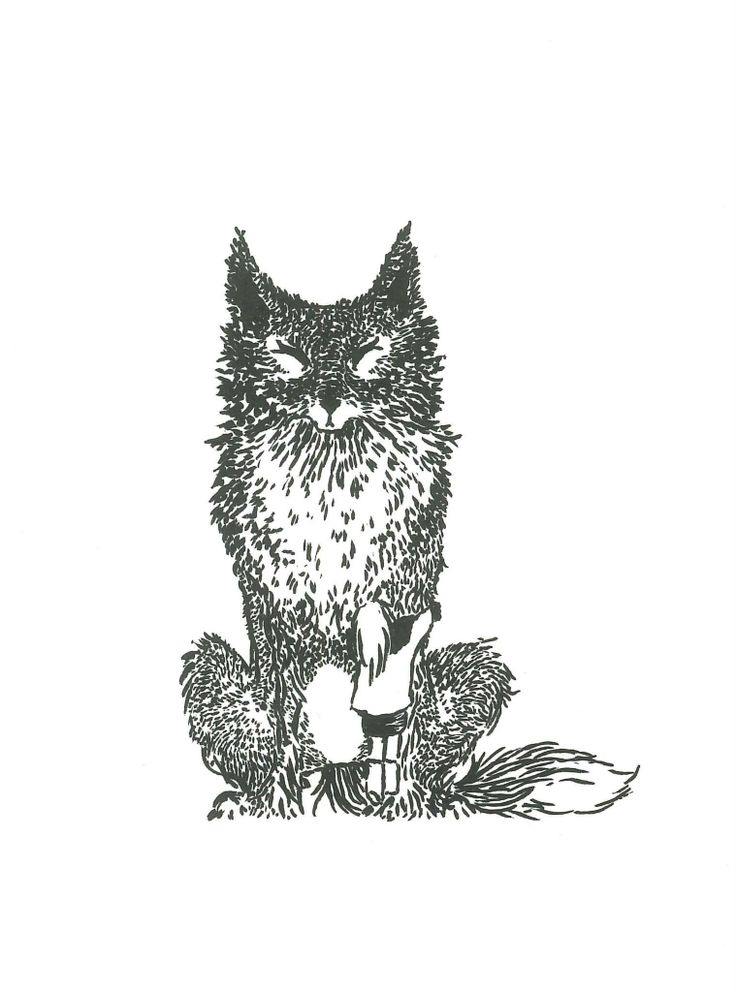 Fox Guardian Ink brush-pen by Ashya Lane-Spollen