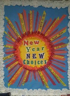 New year bulletin board Skeens