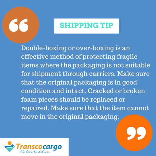 Here's this week's ‪#‎shippingtip‬ from ‪#‎transcocargo‬ on packaging fragile cargo for shipping.