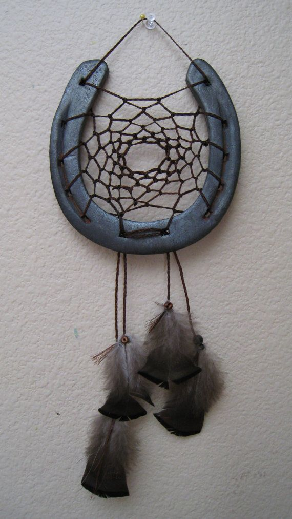 Horse shoe dream catcher for sale! I think this would be fairly easy to DIY. I k