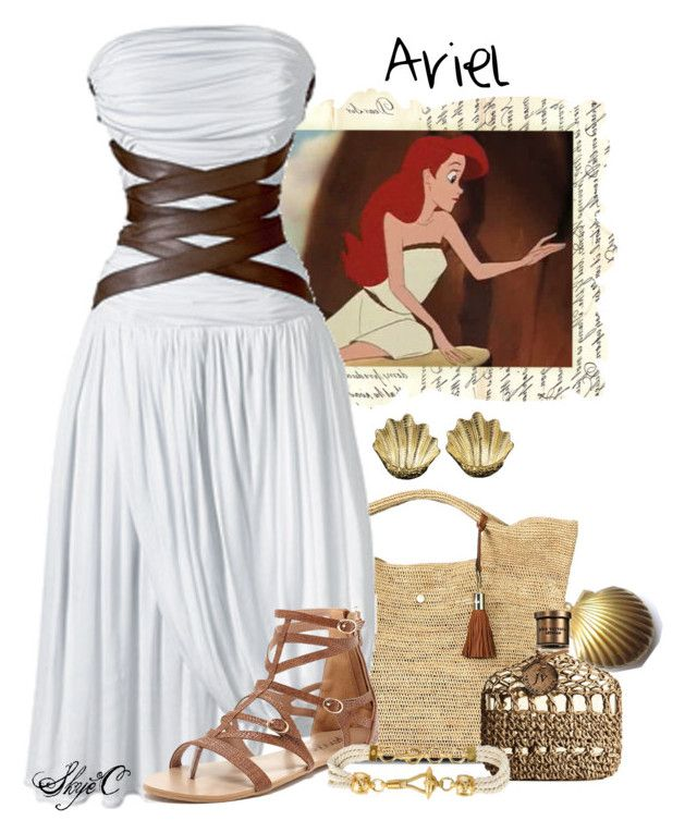 Ariel - Disney's The Little Mermaid by rubytyra on Polyvore featuring polyvore, fashion, style, Disney, Bucco, Heidi Klein, Buccellati, Gianfranco Ferré, John Varvatos, CÉLINE, disney, thelittlemermaid, ariel, disneybound and littlemermaid