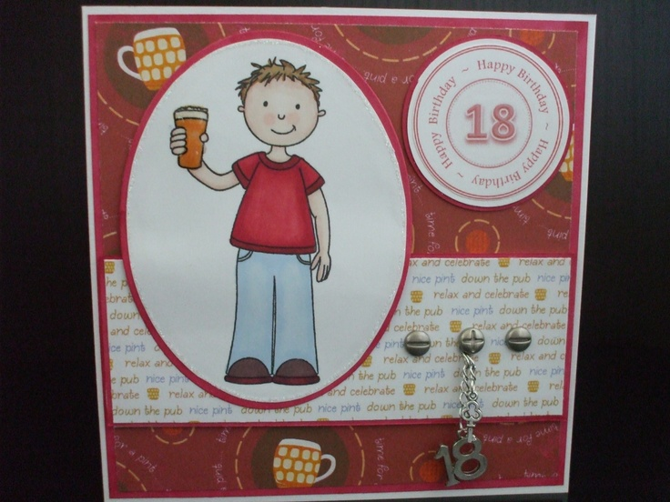 18th Birthday Cards Male ~ Th birthday card male cards crafts milestone birthdays pinterest
