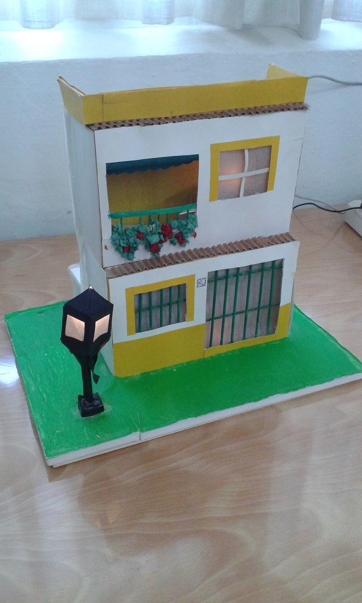 Maqueta de casa con alumbrado p blico realizad por - Como hacer un plano de una casa ...