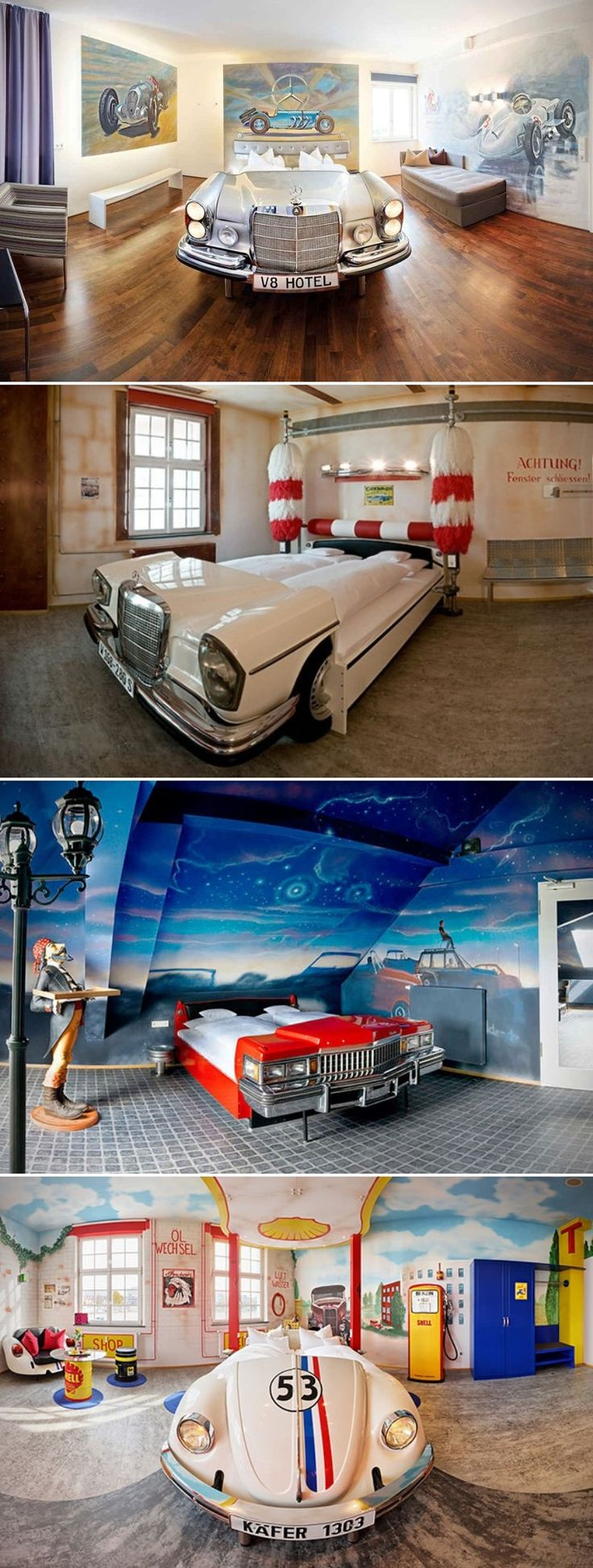V8 Hotel-Automotive Themed Hotel in Stuttgart