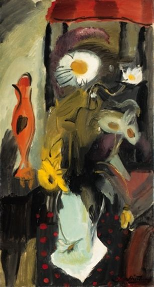 Ivon Hitchens, Still Life with Daisies and Daffodils on ArtStack #ivon-hitchens #art