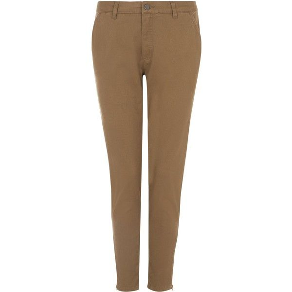 Jaeger Skinny Cargo Trousers ($140) ❤ liked on Polyvore featuring pants, khaki, women, stretchy skinny jeans, brown skinny pants, brown khaki pants, stretch skinny jeans and brown pants