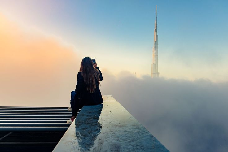 ABOVE THE CLOUDSSince 2008, Dubai's Burj Khalifa has reigned as the tallest structure in the world, measuring 2,722 feet. The building is so tall that from the upper floors, the sun is visible for a few minutes after it has set from the view on the ground.