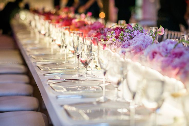 Wedding Reception Seating: Misconceptions About Long Banquet Seating. Read more: http://www.modwedding.com/2014/05/19/wedding-reception-seating-ideas/ #wedding #weddings #reception Featured: HMR Design