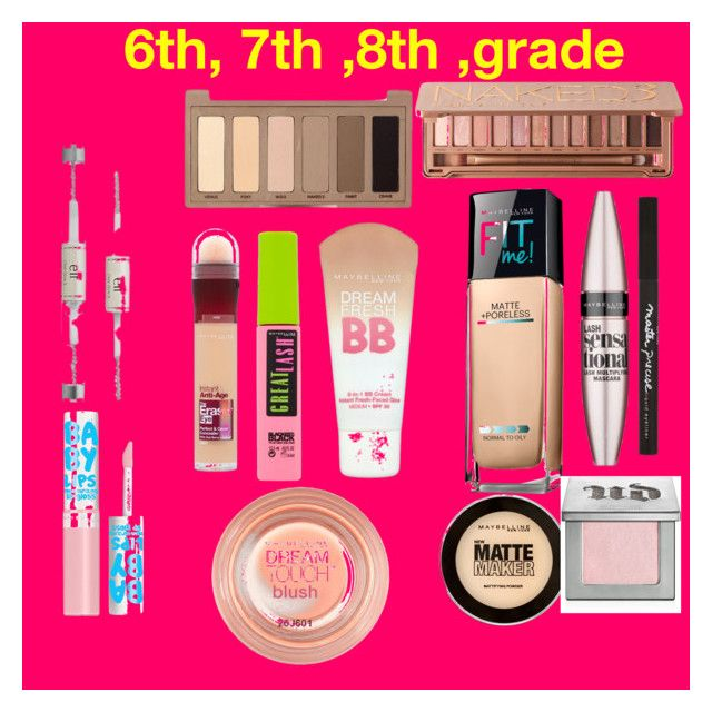 """""""6th, 7th, 8th, Grade Makeup"""" by sydneydiver on Polyvore featuring beauty, e.l.f., Maybelline and Urban Decay"""