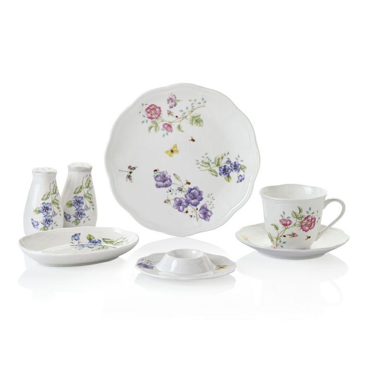 Bernardo Dream Garden Kahvaltı Takımı / Breakfast Set #bernardo #bonechina #breakfasttime #teatime #tabledesign #vintage #flowers