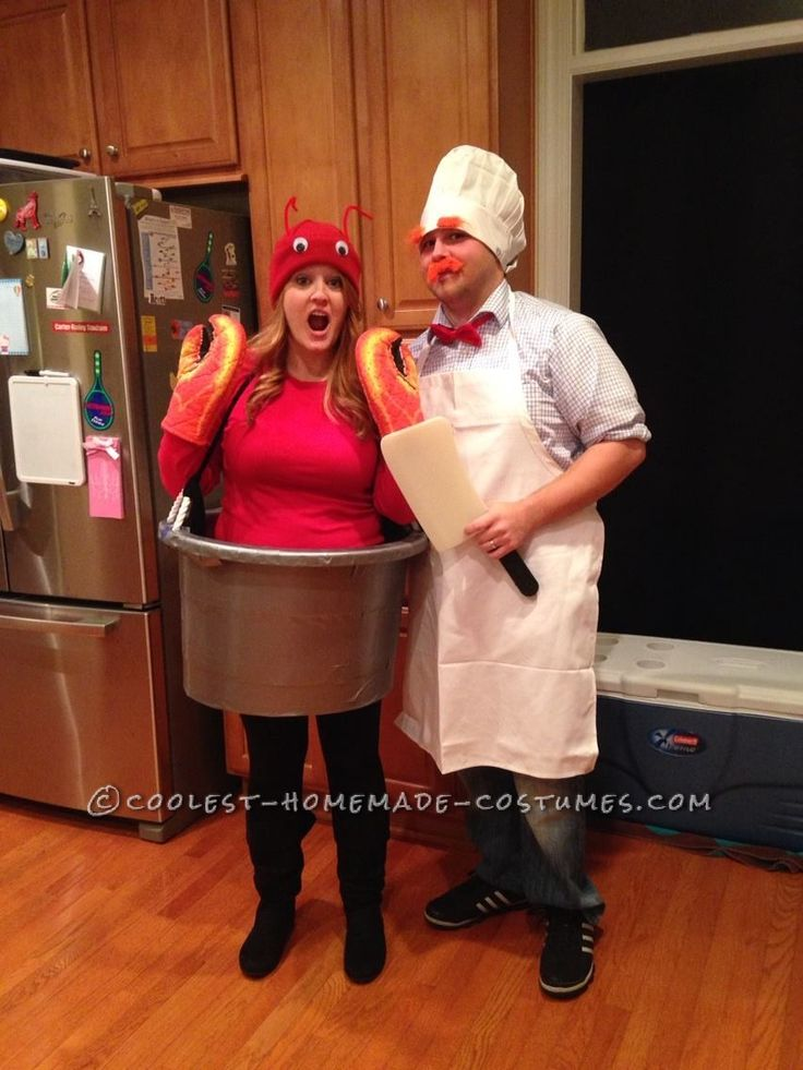 Super-Easy Homemade Costume for Couples: Swedish Chef and Lobster in a Pot... Coolest Halloween Costume Contest