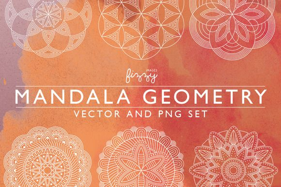 Mandala Geometry Vector & PNG set by Fizzy Images on @creativemarket