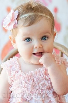 ***Featured on TLCs Cake Boss** Cheeky Chic Babys Vintage Ruffle Romper has  a sweet, vintage-inspired softness that is classic baby-girl, but