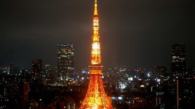 Image of Light Ilumination Tokyo Tower Facts for Kids Pictures