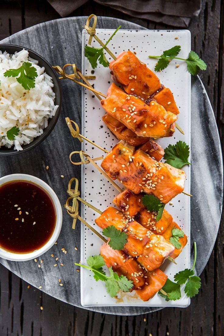 Teriyaki Salmon Kebabs Recipe - Viva