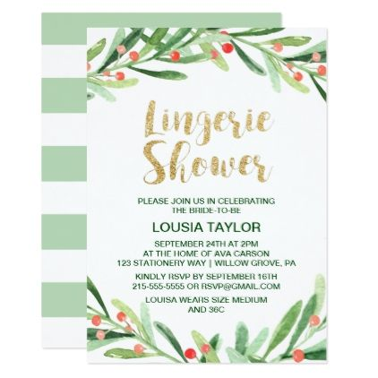 Christmas Holly Wreath Lingerie Shower Card - wedding invitations diy cyo special idea personalize card