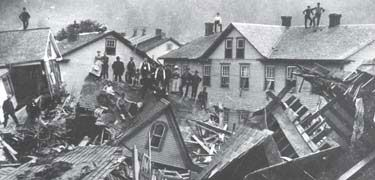 Went through a museum and learned about the devastating flood. Aftermath of the Johnstown (PA) flood, 1889.