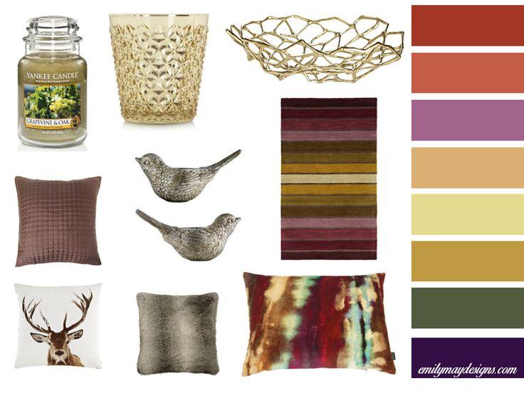 Mood board. Autumn inspired Interior Decor Moodboard