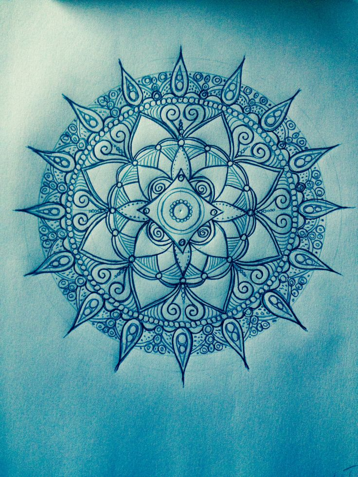 Quick and easy Mandala cheat ~ paint the background with a wash of a single dark color and water. When the canvas is completely dry, use your dark paint (this time undiluted) to stencil on your mandala